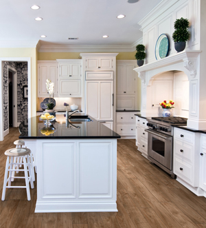 kitchen cabinets and breakfast nook